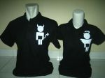 polo couple devil n angel hitam a