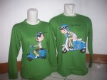 sweater vespa hijau