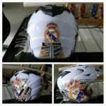 HELM MADRID PUTIH